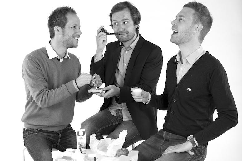 FAGLIG LUNSJPRAT: I podkasten Psykologlunsj møter du psykologene Tommy Mangerud, Jonas Vaag og Jan-Ole Hesselberg.