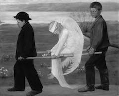Hugo Simbergs maleri Såret engel ble i 2006 kåret til Finlands «nasjonalmaleri». Foto: Hannu Aaltonen.